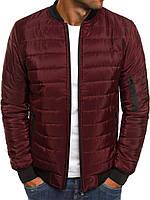 Куртка мужская демисезонная осенняя весенняя / бомбер бордо