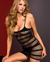 Эротическое платье из крупной сетки, Пеньюары из сетки. Размер 42