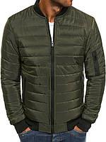 Куртка мужская демисезонная осенняя весенняя / бомбер хаки