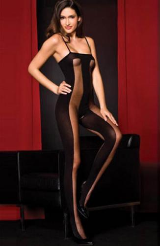 Комбинезон сетка полупрозрачный, черного цвета ,для жаркого соблазнения. Размер: S M L