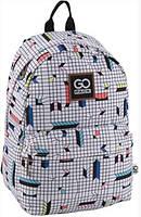Рюкзак школьный GoPack 125, на 16 л белый