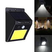 Настенный уличный светильник SH-1605-25LED, датчик движения PIR, датчик света CDS, солнечная батарея