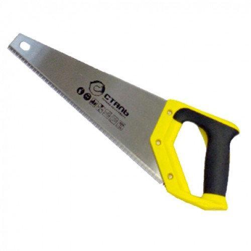Ножовка по дереву Сталь двухкомпонентная ручка 400мм
