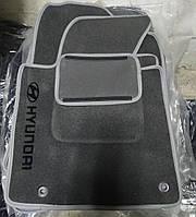 Коврики ворсовые Hyundai Elantra 2010-... K459 CEAK текстиль серые 5 штук
