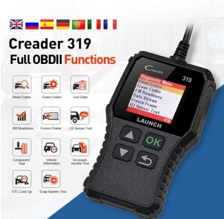 Диагностический сканер, автосканер LAUNCH X431 Creader 319 русский язык, оригинал 100%