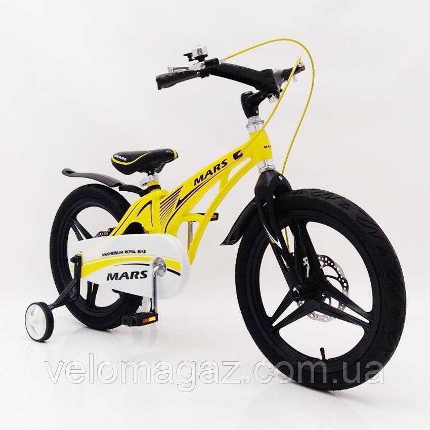 "Детский велосипед SIGMA MARS-16"" Yellow"