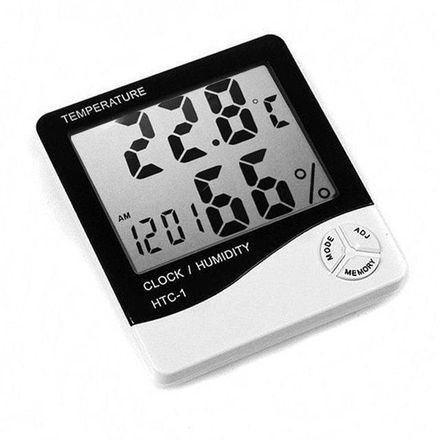 3в1 Термометр, гигрометр и часы в одном устройстве Generic HTC-1