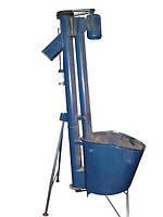 Шнек точной загрузки, погрузчик вертикальной подачи сырья ШТЗ-12 с двигателем 1,5 кВт