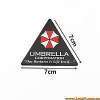 Авто значок Umbrella Corporation (3D наклейка resident evil на автомобиль, мотоцикл, машину, крылья)