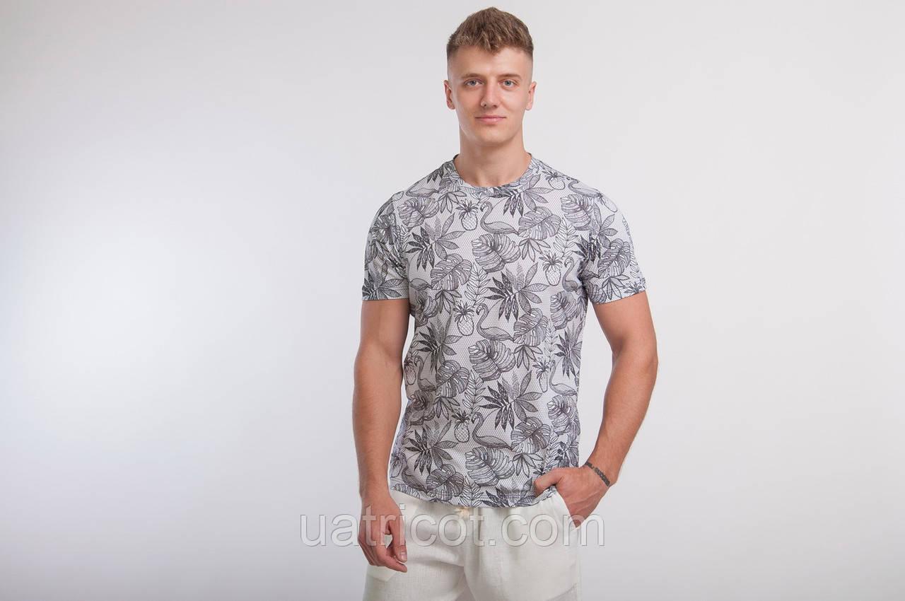 Футболка мужская KIFA ФМХ-019/25 Tropical flamingo gray серая