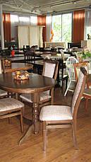 Стол овальный раскладной Говерла 2 Микс мебель, цвет  темный орех, фото 3