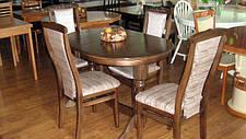 Стіл овальний розкладний на двох ніжках для кухні і вітальні Говерла 2 Мікс меблі, колір темний горіх, фото 3