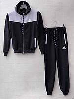 Спортивний костюм для хлопчика на 8-11 років чорного кольору із капюшоном Adidas оптом