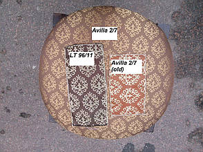 Банкетка круглая Микс мебель, цвет светлый орех + патина, фото 2