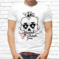 """Мужская футболка Push IT с принтом Череп """"Poker face"""""""