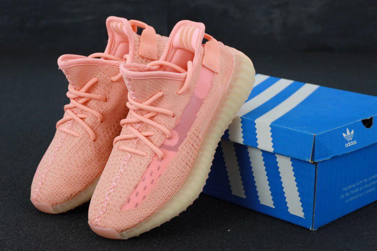 Женские розовые кроссовки Adidas Yeezy Boost 350, фото 1