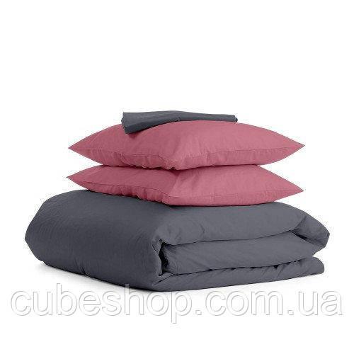 Комплект полуторного постельного белья GREY PUDRA-P (хлопок, сатин)