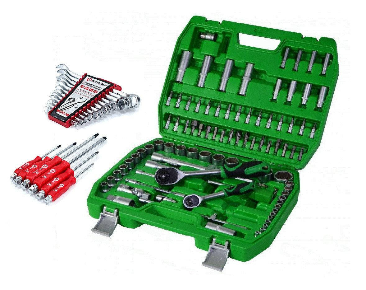 Набор инструментов  94 пред+ набор ключей 12 пред. Intertool  ET-6094SP+HT1203