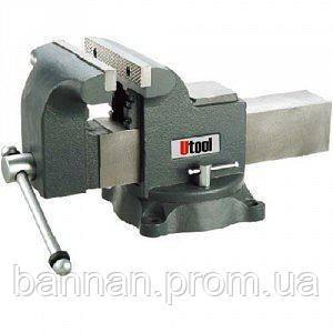 Тиски поворотные «Мастерская» Utool 7100, 100 мм, поворотные на 360°, фото 2