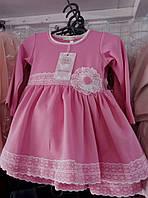 Сукня для дівчинки 1-2 років блакитного, рожевого, персикового, коралового кольору оптом, фото 1