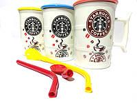 Кружка керамическая Starbucks Старбакс EL- H- 215 0.3 l Трубочка ложка