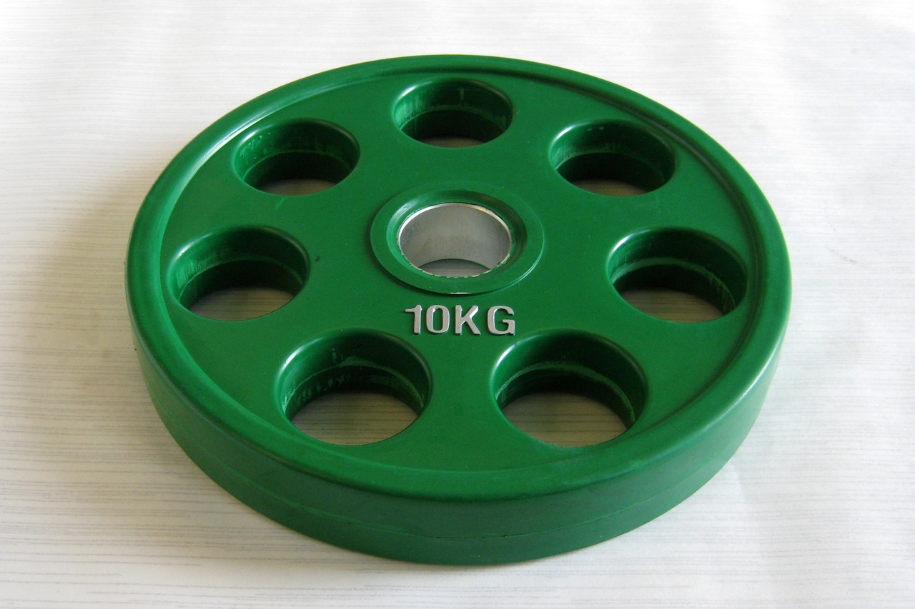 Блин (диск) для штанги обрезиненный 10 кг (52 мм)
