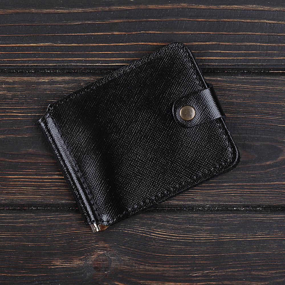 Затиск для грошей 1.0 Fisher Gifts BUSSINES портофіно чорний (шкіра)
