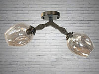 """Люстра на 2 лампы  в стиле ЛОФТ """"МОЛЕКУЛА"""" 881-2BK, фото 1"""