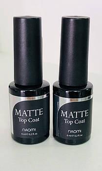 Матовый топ для гель-лака Naomi  Top Coat Matte 6мл