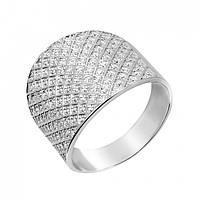 Кольцо с камнями широкое Шима