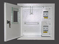 Шкаф электронный 1-фазный на 4 автомата наружный