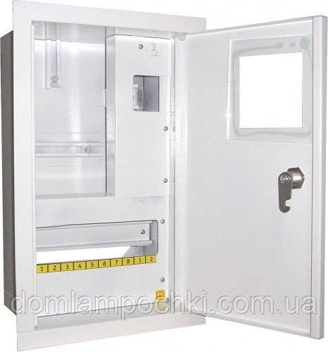 Шкаф электронный 1-фазный на 10 автоматов+УЗО наружный
