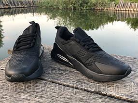 Мужские кроссовки реплика Nike Air Max 270 черные, фото 3