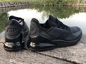 Мужские кроссовки реплика Nike Air Max 270 черные, фото 2
