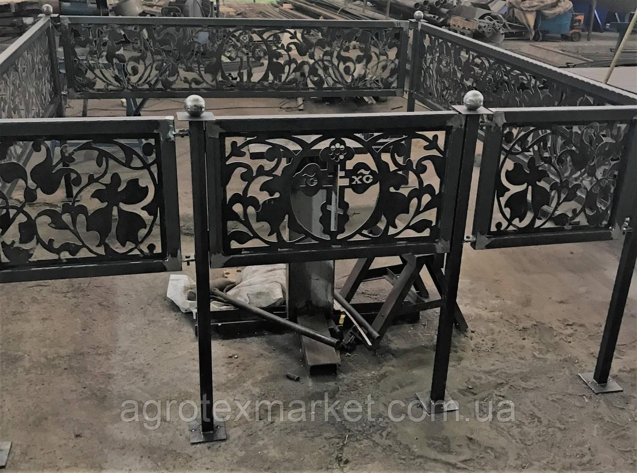 Оградки на кладбище с любыми фигурными элементами