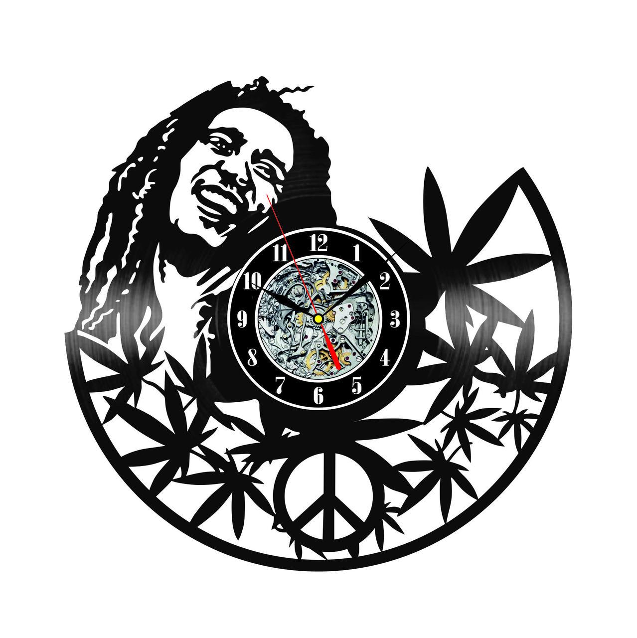 Настенные часы из виниловых пластинок LikeMark Bob Marley