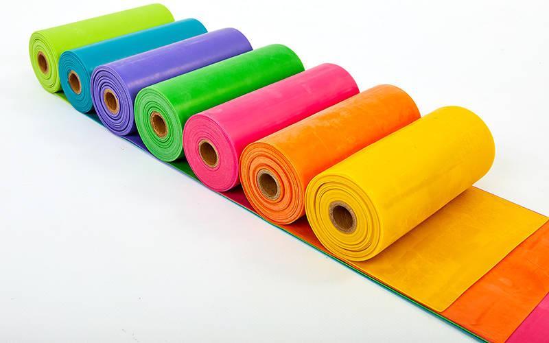Стрічка еластична для фітнесу і йоги в рулоні CUBE (р-р 5,5мх15смх0,45мм) (латекс, кольори в асортименті) Z