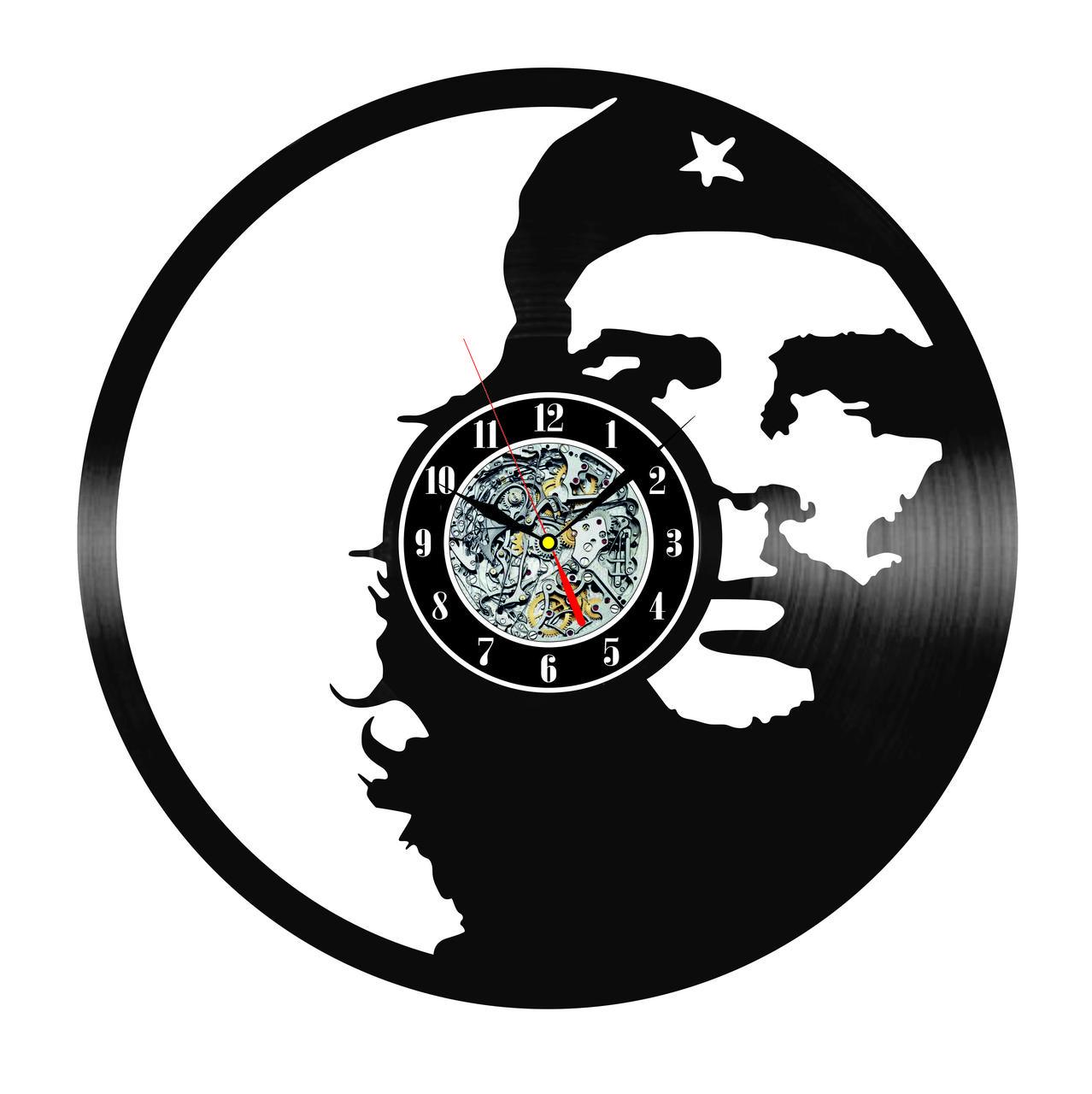 Настенные часы из виниловых пластинок LikeMark Che GUEVARA