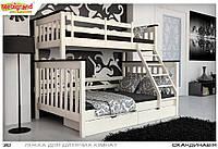 Двухъярусная трёхместная кровать Скандинавия 140