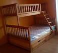Двухъярусная кровать трёхместная Жасмин 140