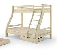Двухъярусная детская трёхместная кровать Аляска 90*200+140*200