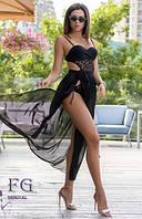 Женская пляжная юбка парео с поясом, фото 1