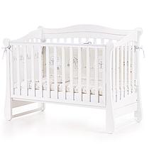 Детская кроватка Соня ЛД18 без ящика Белый