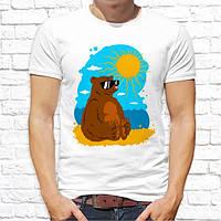 Чоловіча футболка з принтом Ведмідь Push IT