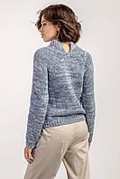 Женский укороченный джемпер свитер с высоким воротником-стойкой, фото 1