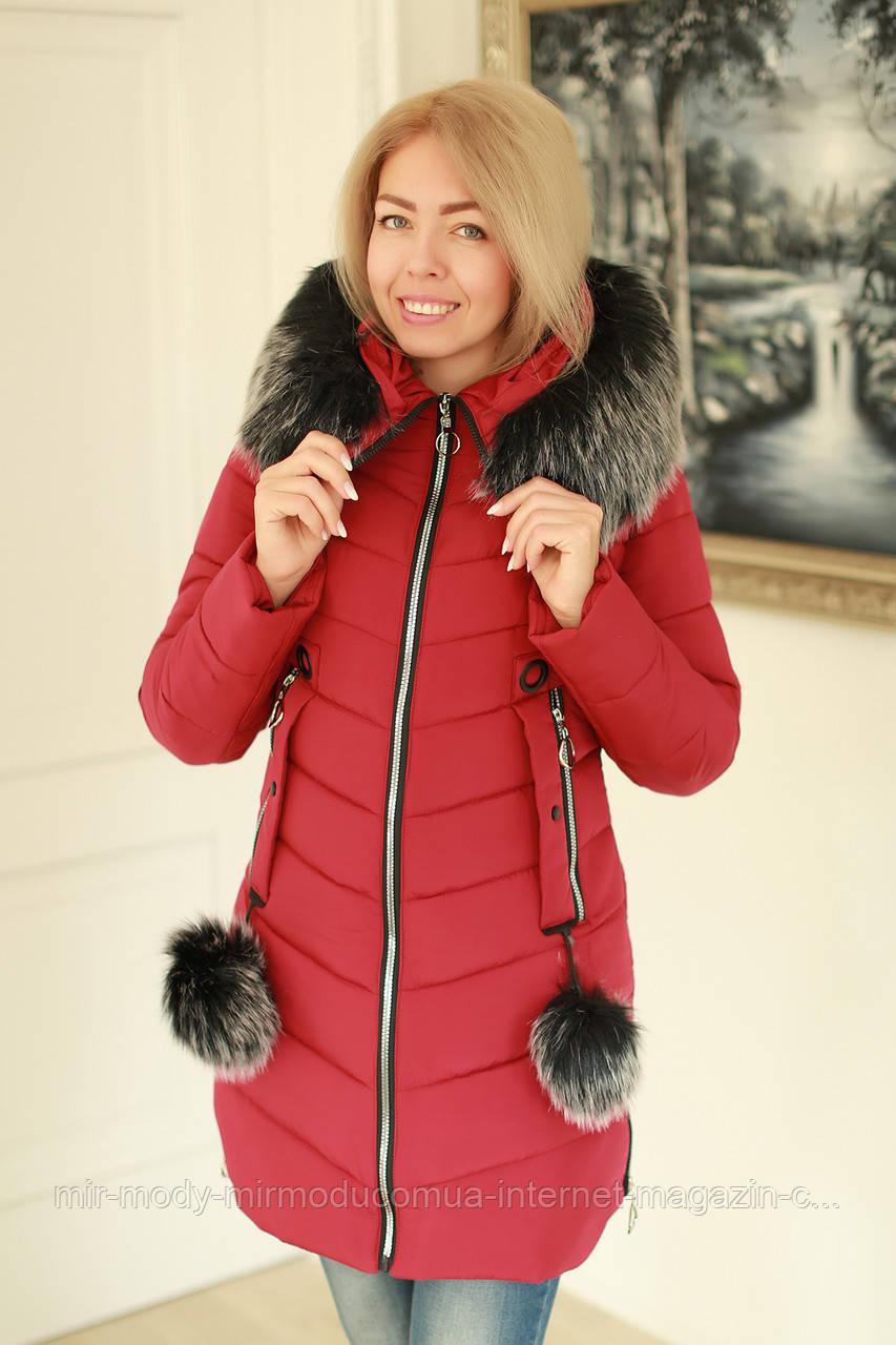 Зимняя женская куртка стильная размеры (42-52)  (modnyst)