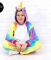 Детский кигуруми радужный единорог krd0061