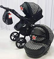 """Всесезонная детская коляска 2 в 1 """"MACAN"""" Black-rhombus"""