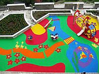 Резиновая плитка для детской площадки 20 мм