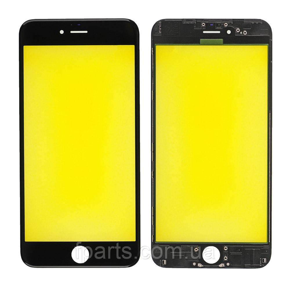 Стекло дисплея iPhone 6 Plus с рамкой и пленкой OCA (Black) Original